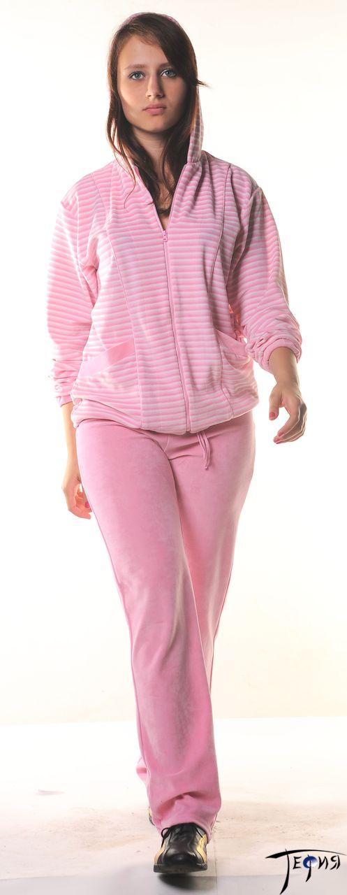 велюровый комплект артикул 4-66в розовый