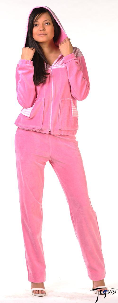женский велюровый костюм 4-91