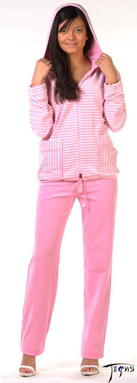 велюровый комплект 4-93п цвет розовый