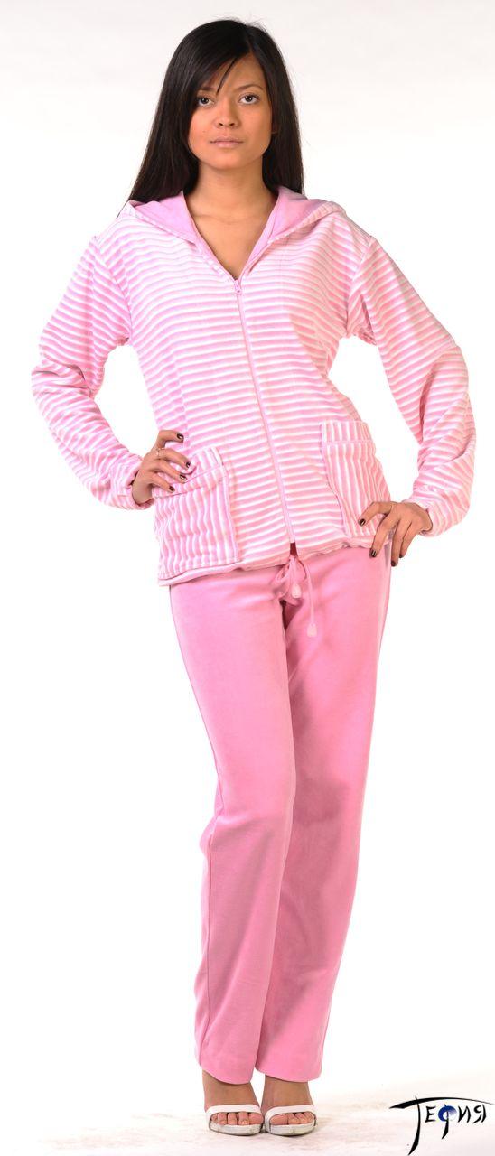велюровый комплект 4-93п розовый