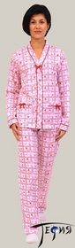 Женская пижама из трикотажа 100% хб артикул  3-42