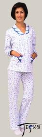 Женская теплая пижама из трикотажа 100% хб артикул  3-43
