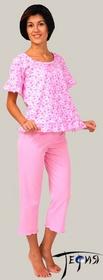 Женская легкая пижама из трикотажа 100% хб артикул  3-44