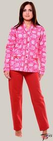 Женская теплая пижама из трикотажа 100% хб артикул  3-46