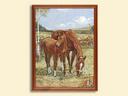 Картина из гобелена - Лошади