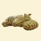 Подушка - валик из гобелена - Бегемот