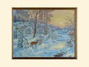 Картина из гобелена - Зимний пейзаж