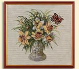Картина из гобелена - Нарциссы с-2535