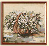Картина из гобелена -  Ландыши с-2750