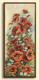 Картина из гобелена - Маки и ромашки с-2788