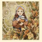 Салфетка декоративная Матрёшка-Осень - c 3701