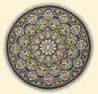 Салфетка декоративная Синие узоры - c 3723