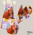 """Кухонный текстиль КТ - 003 """"Лошадь с цветком"""""""