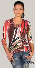 Женская блуза-стрейч из вискозы  С-13
